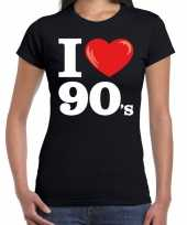 I love 90s nineties t-shirt zwart dames