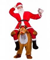 Instap carnavalskleding kerstman op rendier