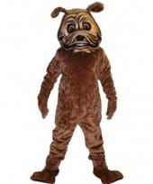 Luxe dieren pak bulldog mascottes