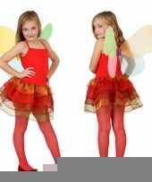 Meisjes vlinder carnavalskleding rood