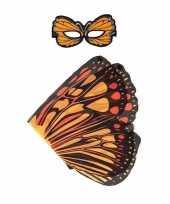 Oranje monarchvlinder verkleedset voor meisjes