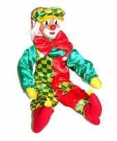 Pvc wanddecoratie clowns 50 cm