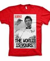 Rood scarface the world is yours t-shirt