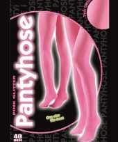 Roze glitter pantys 40 denier