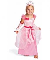 Roze prinsessenjurk met kroontje