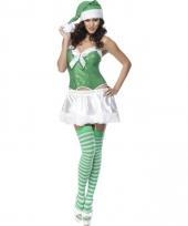 Sexy carnavalskleding dames groen en wit