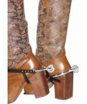 Zilveren cowboy sporen