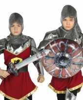 Zilveren ridder set opblaasbaar 10099569