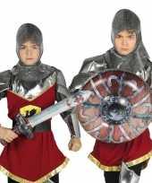 Zilveren ridder set opblaasbaar 10099727