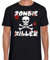 Zombie killer halloween t shirt zwart heren
