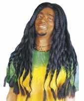 Zwarte hippiepruik met dreads